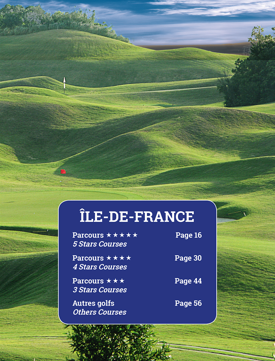 Page 7 of the guide of the France Golf courses